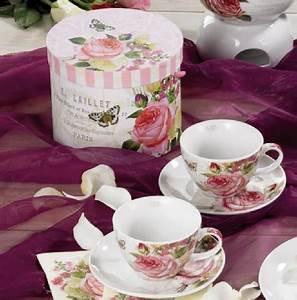 Steingut Geschirr Landhaus : cappuccino tasse 2er set rosen shabby chic landhaus geschenk romantik geschirr ebay ~ Frokenaadalensverden.com Haus und Dekorationen