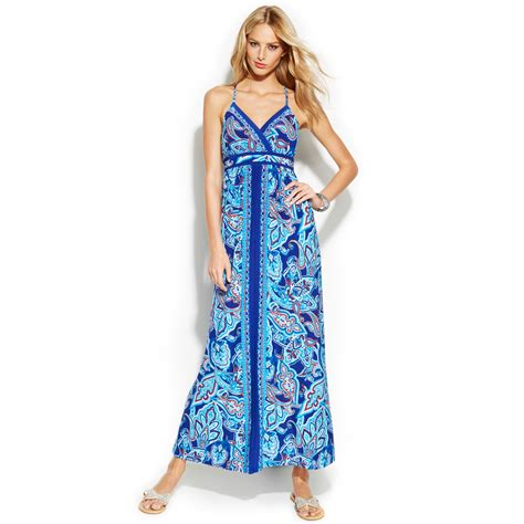 Lyst - Inc International Concepts Petite Embellished Sleeveless Printed Maxi Dress
