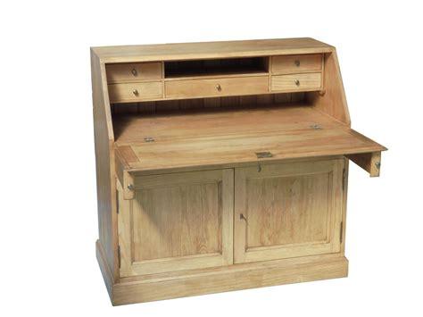 bureau secretaire bois secretaire bois massif