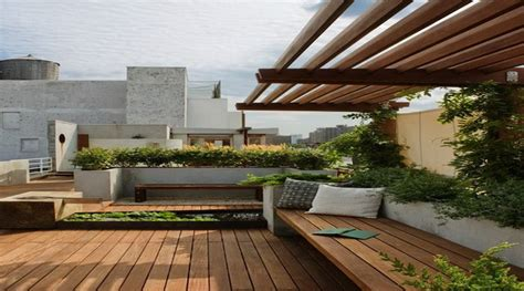 House Design Ideas With Rooftop by Roof Garden Design Ideas With Wood Roof Garden Design