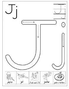 letter j worksheet for kindergarten preschool and 1 st 807 | letter j worksheet free printable 233x300