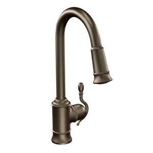 parts for moen kitchen faucets woodmere rubbed bronze one handle high arc pulldown kitchen faucet 7615orb moen