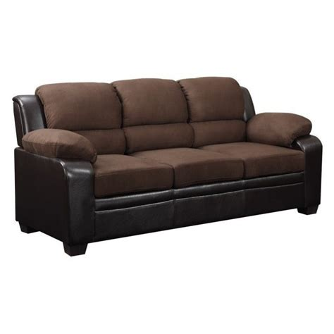 global furniture usa sofa global furniture usa microfiber sofa in brown u880018kd