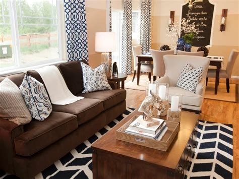 Option Curtains For Living Room With Brown Furniture