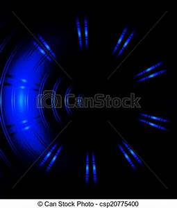 Blue Circle Neon Light Abstract Stock Illustration