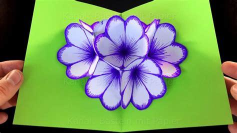 Frühlingsblumen Basteln Aus Papier by 3d Basteln Mit Papier Home Ideen