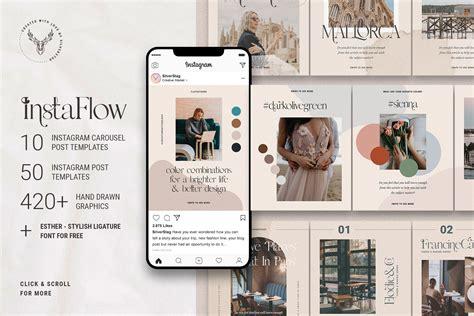 #InstaFlow - Carousel Post Templates   Creative Photoshop ...