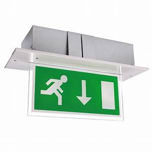 Single-Sided Recessed LED Fire Exit Sign - Calabor EX ...
