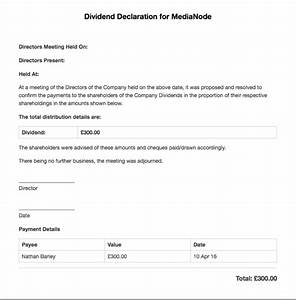 the dividend voucher freeagent With dividend certificate template