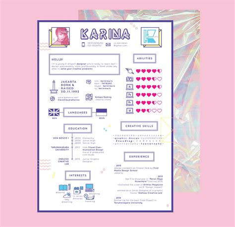 Girly Resume Templates by 10 Creative Cv Designs To Inspire Your Search In 2017
