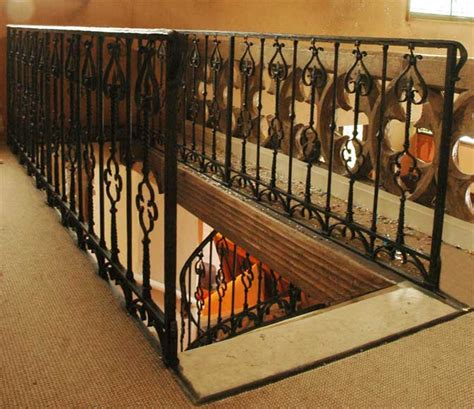 iron gothic style banister architectural elements