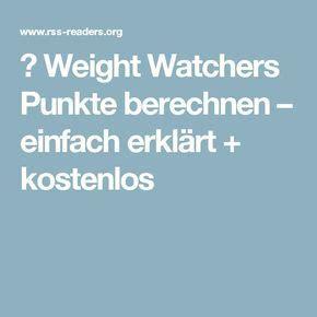 weight watchers punkte berechnen einfach erklaert