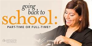 going back to school part time or time