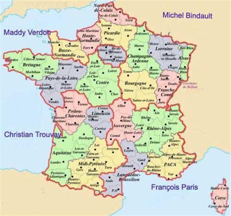 Carte De Avec Les Nouveaux Départements by Carte Region De Et Departement The Best Cart