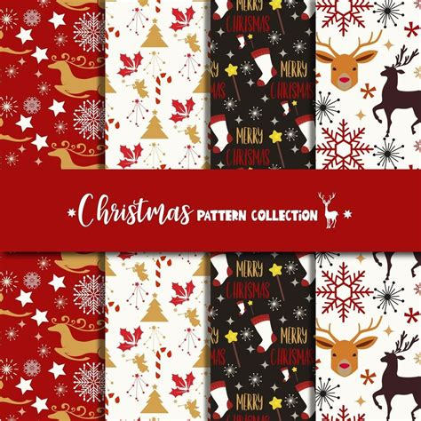christmas pattern collection set christmas pattern