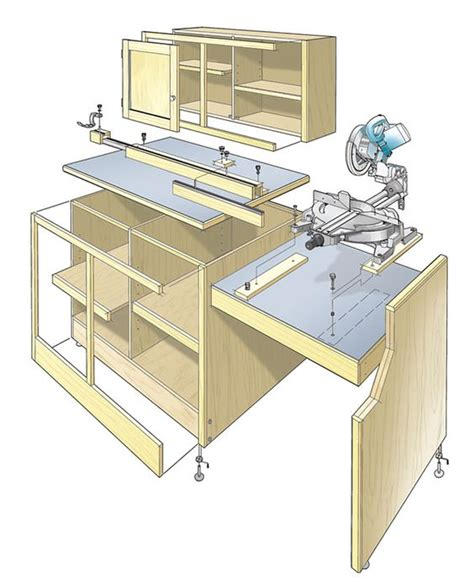 wood project planner miter saw workcenter woodworking plan this woodworking plan appeared in shopnotes magazine no
