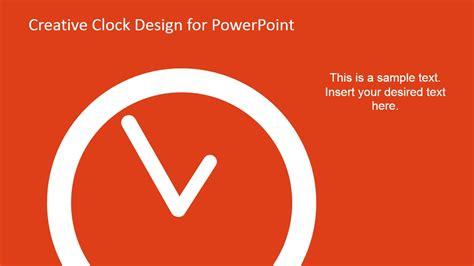 creative analog clock   powerpoint slidemodel