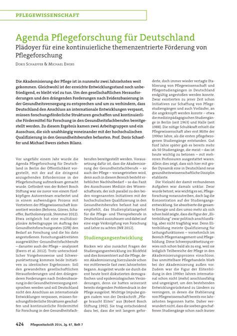 F F Deutschland by Pdf Agenda Pflegeforschung F 252 R Deutschland