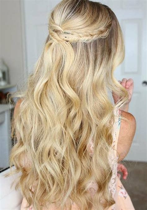 ideas  long prom hair  pinterest grad