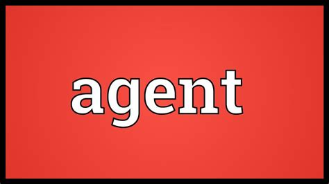 meaning agent agency aqua