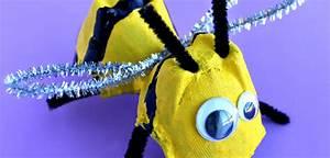 Bricolage 3 Ans : bricolage abeille avec une bo te d 39 ufs ~ Melissatoandfro.com Idées de Décoration
