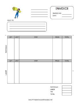 printable invoice     flooring installation