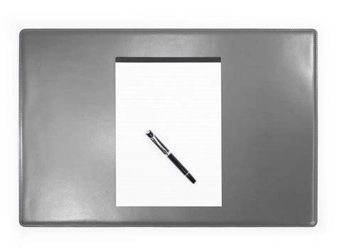 bureau gris sous de bureau en cuir gris sm700