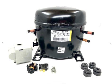 compressor embraco 1 4 220v r 134 egas 80hlr hlp refrigera 231 227 o fox