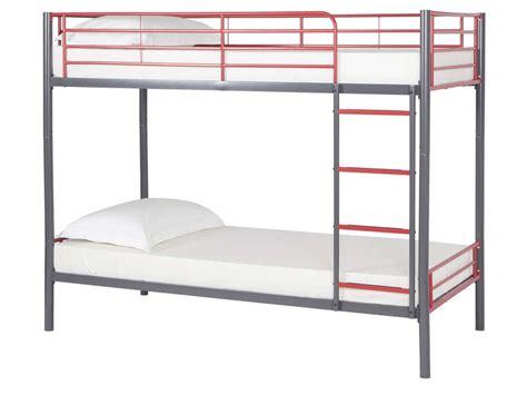 chambre gain de place lit superposé 90x190 cm coloris gris et
