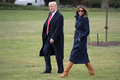 Fashion Notes: Melania Trump Struts in Style Wearing Navy