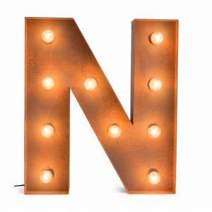 Letter N with Light Bulb - Reallynicethings