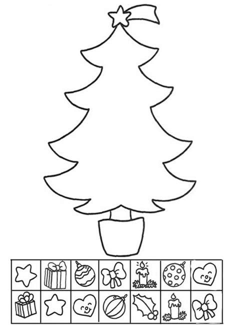 dibujo de arbol para imprimir y para colorear de navidad