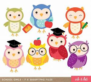 Owl Clip art, School Digital Owl clipart, Scrapbook ...