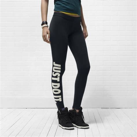 Leggings just do it nike black black leggings gym hipster sneakers workout leggings ...