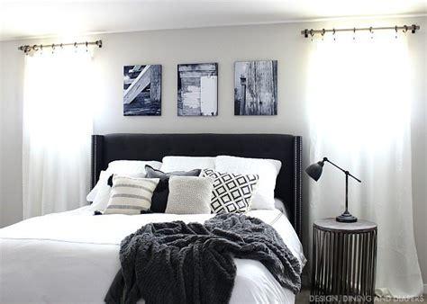 black and white master bedroom black and white master bedroom updates giveaway taryn 18338 | Black and White Master Bedroom with Rustic Touches