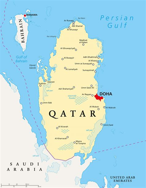 qatar cities map qatar map  cities western asia asia