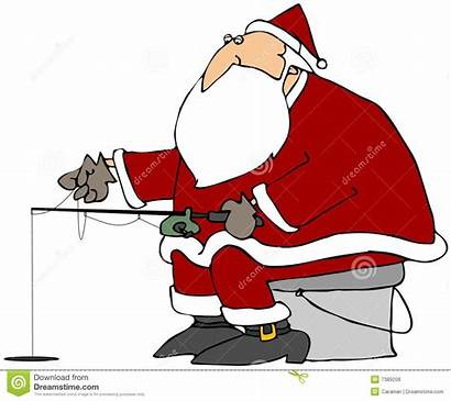 Fishing Santa Ice Kerstman Pesca Cartoon Ghiaccio