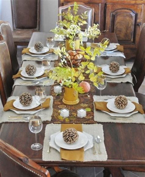 Small Kitchen Setup Ideas - 30 thanksgiving table setting ideas for a festive décor celebration