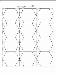 easy cut hexagon templates for eppfree download With hexagon quilt template plastic