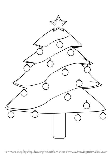 christmas pictures step by step learn how to draw decorated tree step by step drawing tutorials