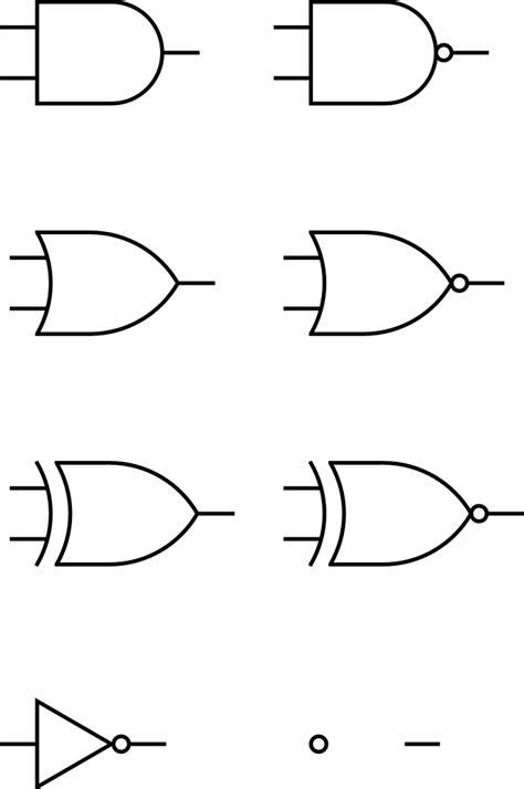 OnlineLabels Clip Art - Digital Logic Gates