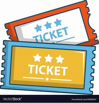 Cartoon Tickets Cinema Icon Vector Royalty