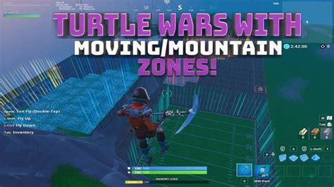 turtle wars  moving zones mountain zones code