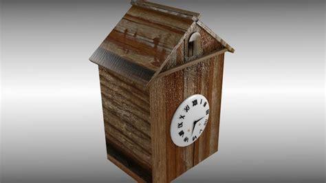 5743 large cuckoo clock 3d model antique cuckoo clock vr ar low poly obj 3ds
