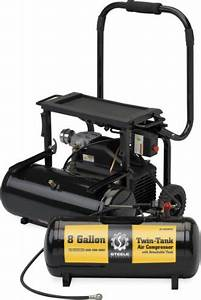 Steele Products Twin Tank 8 Gallon Air Compressor Product