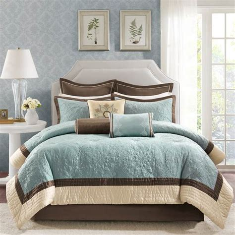 Cottage Style Bedroom Set by Shop Madison Park Juliana Blue Bedding The Home