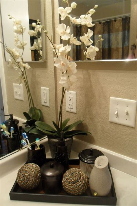 guest bathroom decor ideas bamboo plant instead and jars for guests on the bathroom
