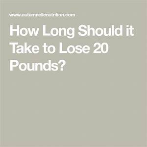 How Long Should It Take To Lose 20 Pounds
