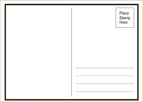Back Of Postcard Template 7 Postcard Back Template Card Authorization 2017