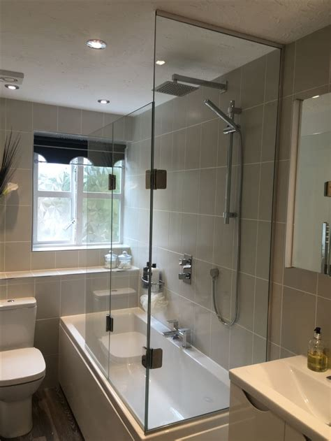 sided bath shower screen  fixed panel